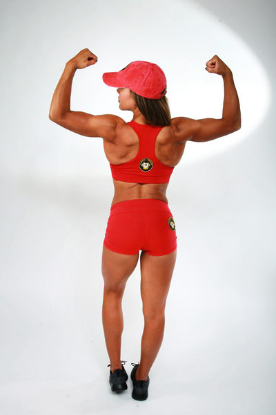 Women body builder, muscle toning