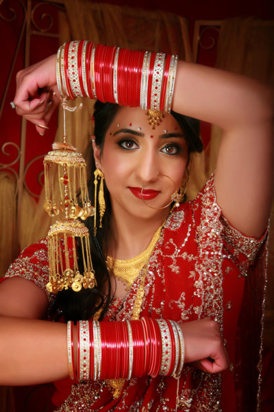 beautiful ethnic bride in our studio