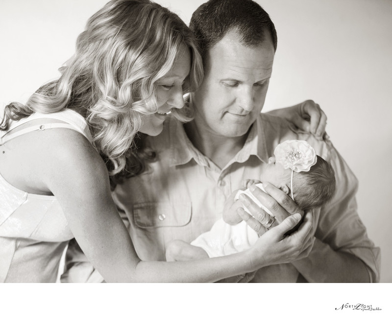 Family Photography | Newborn, Mom and Dad