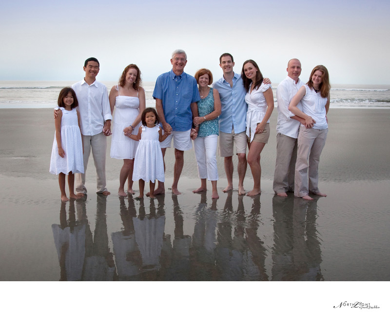 3 Generations Beach Portrait | Pro Family Photograph
