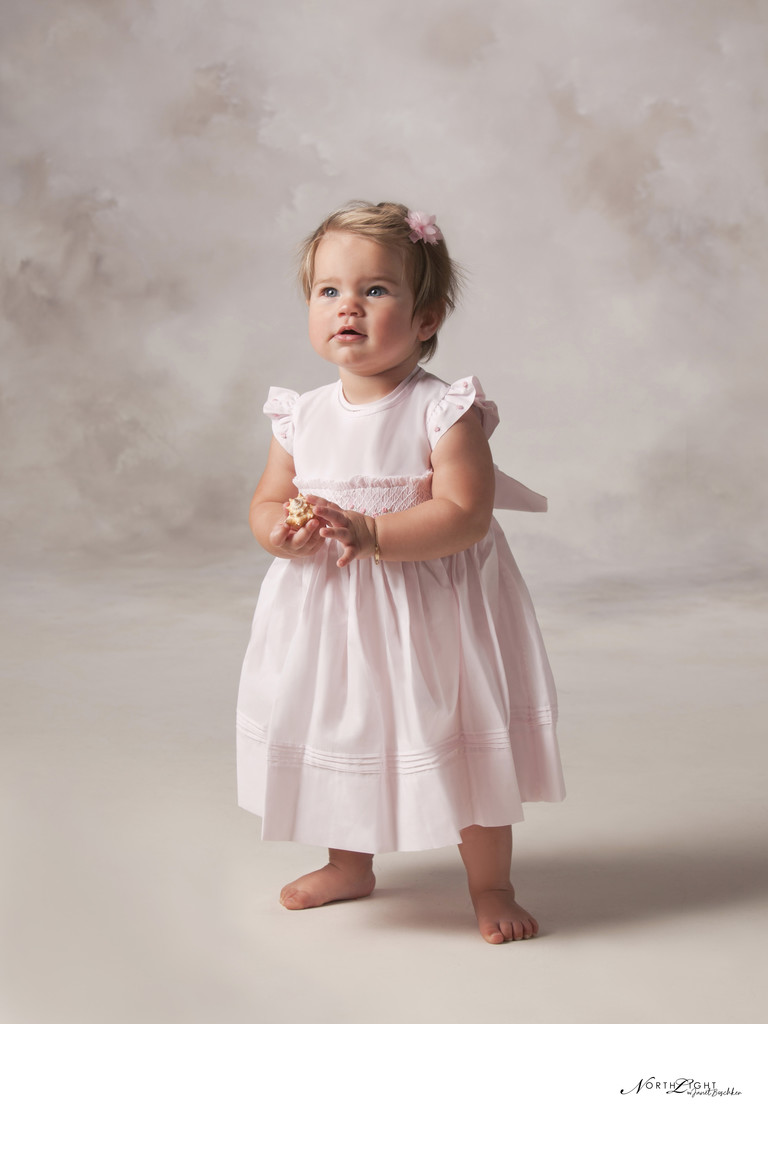 One Year Old Child Studio Photograph | Charlotte