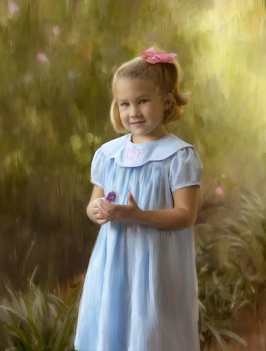 Classic Painting of 5 Year Old Girl