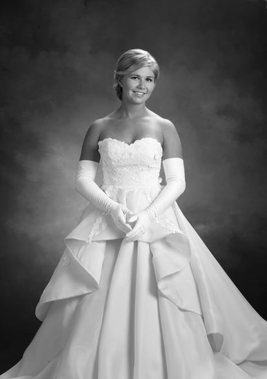 Debutante Black and White Photograph: Charlotte Studio