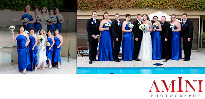 Bridal Party Photos at Hills Lodge