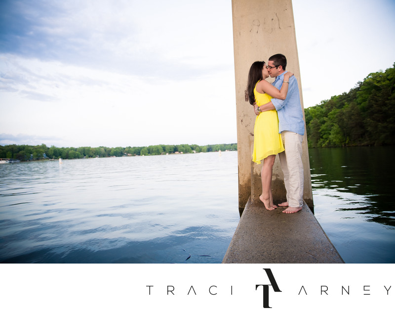 Top NC Photographer, Engagement Session Lake Norman