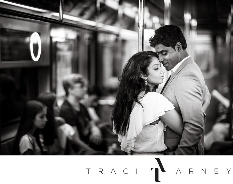 New York City Subway Indian Engagement Session, NY