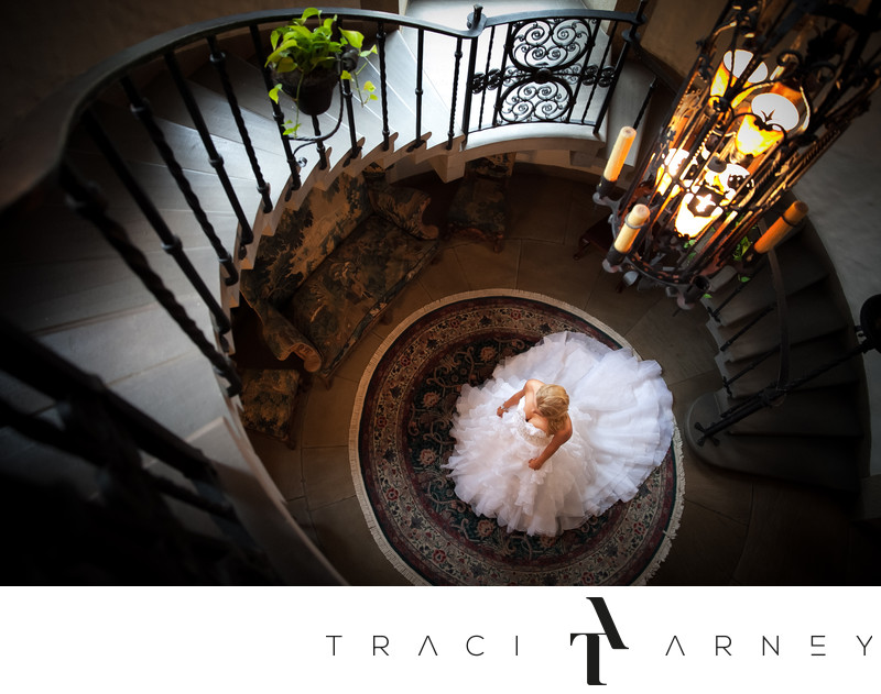 Bridal Session In Graylyn Stairwell, Winston-Salem, NC