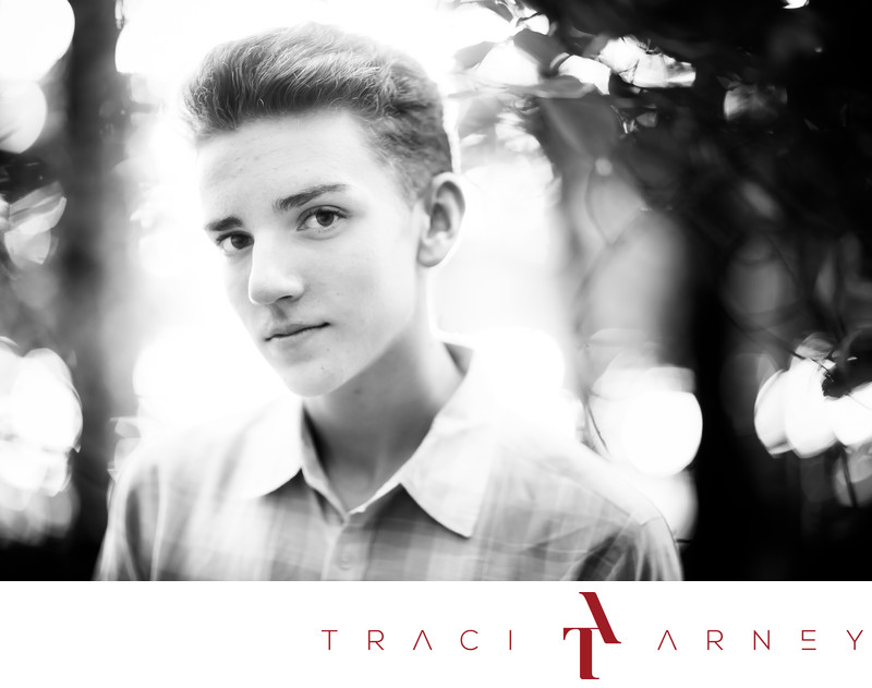 NC Senior Portrait Photographer, B&W, Greensboro, NC