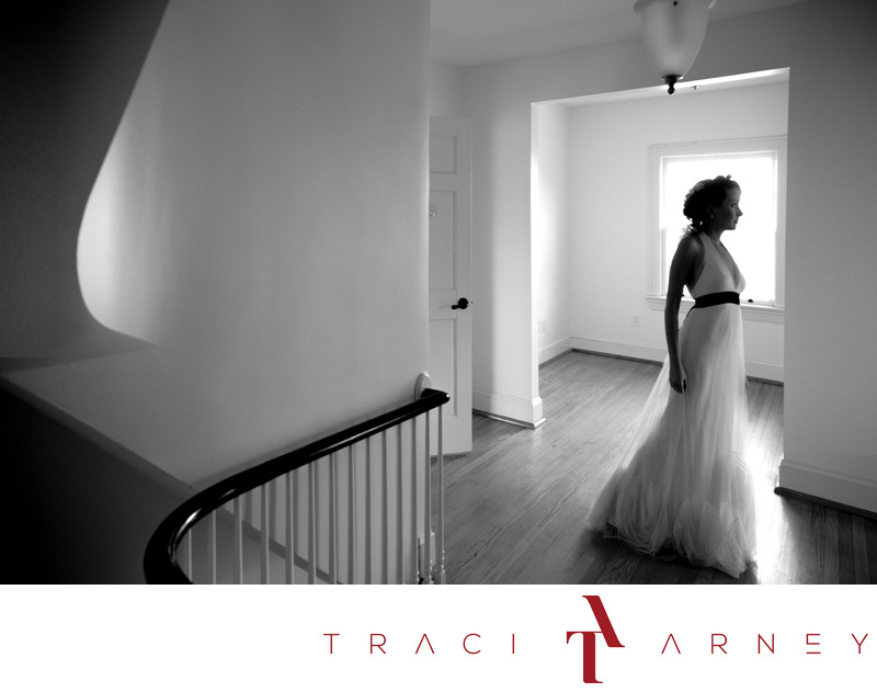 Architectural Bridal Portrait, Tryon Palace Wedding