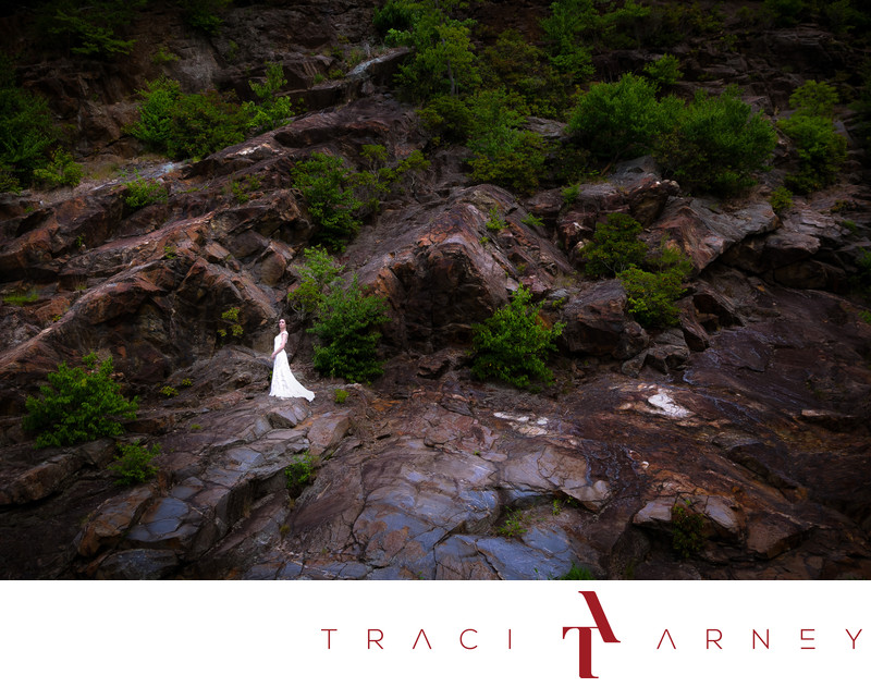 Epic Mountainside Bridal Session, Blue Ridge Parkway, NC