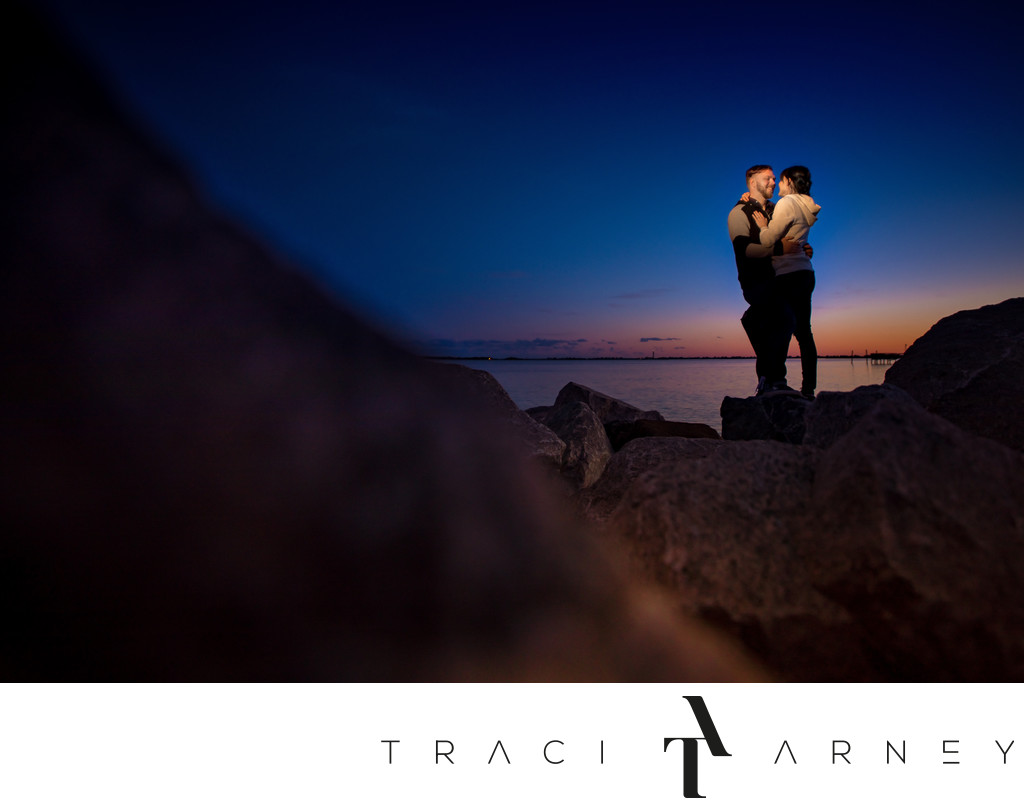Sunset Engagement Session, Southport, NC