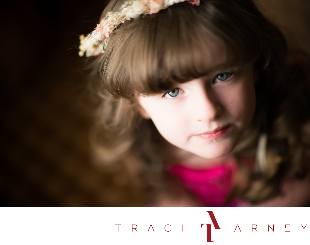 Flower Girl Portrait, Top Greensboro, NC Photographer