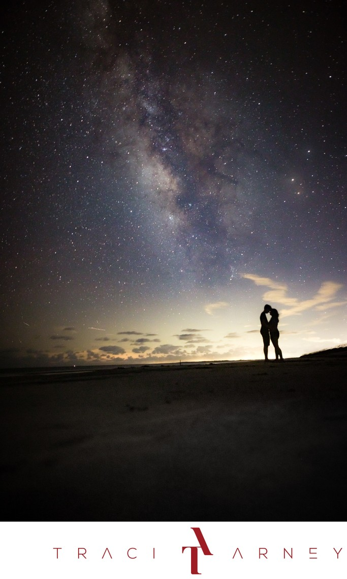 Milky Way Sapelo Island Wedding Photography.
