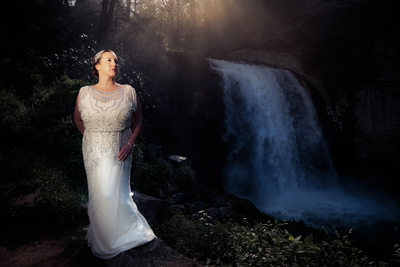 Pisgah National Forest Waterfall Wedding Photography, Asheville