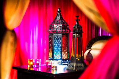 Colorful Indian Wedding Lantern Details, Huntsville, AL