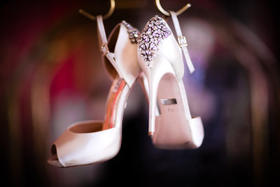 Colorful Wedding Shoe Shot, Congress Hall, Cape May, NJ