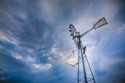 Windmill Bride at Elkin Creek Vineyards Elkin NC