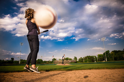 Greensboro War Memorial Baseball Stadium Engagement Session