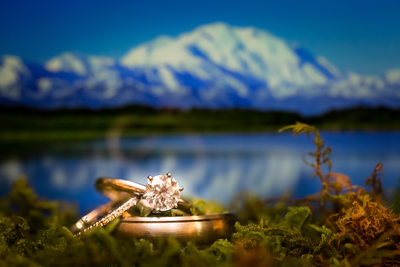 Wonder Lake Denali National Park Wedding Ring Shot