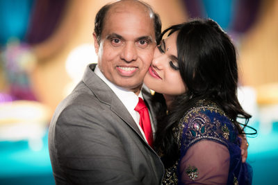 Bride & Dad Formal Photo, Indian Wedding, Huntsville, AL