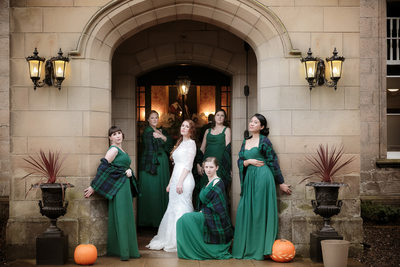 Scottish Melville Castle Destination Wedding Party Pic