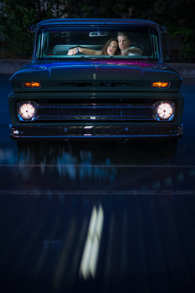 Drive-In, Classic Car Engagement Session, Mooresville, NC
