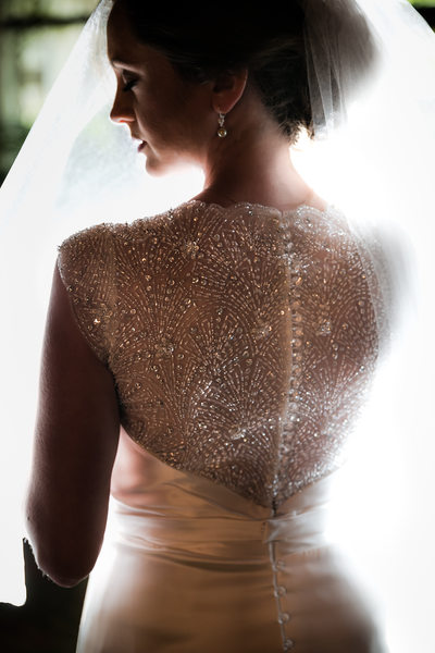 Backlit Bridal Portrait, O.Henry Hotel, Greensboro, NC