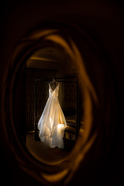 Wedding Photograph Gown Detail, Terranea Resort, California