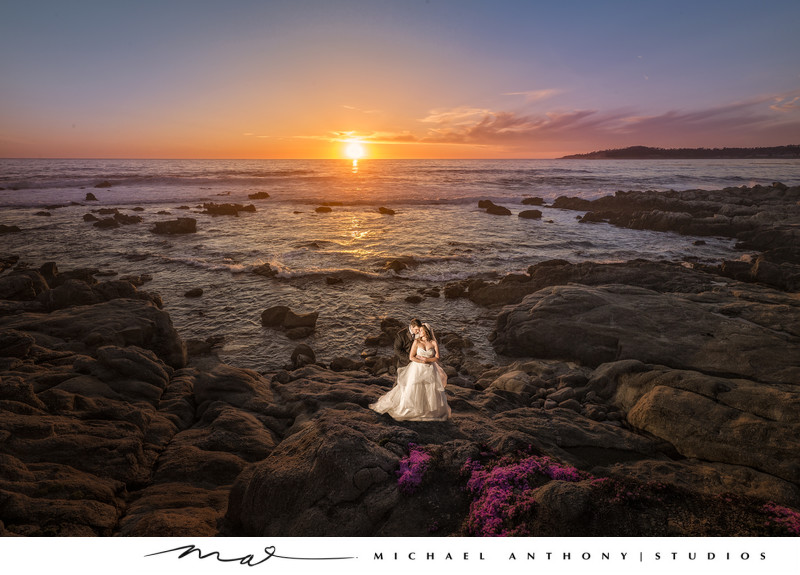 Wedding in Carmel by the Sea at Sunset
