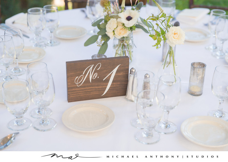 Calamigos Ranch Wedding Table Numbers