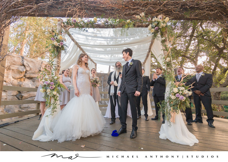 Jewish wedding Traditions at Calamigos Ranch