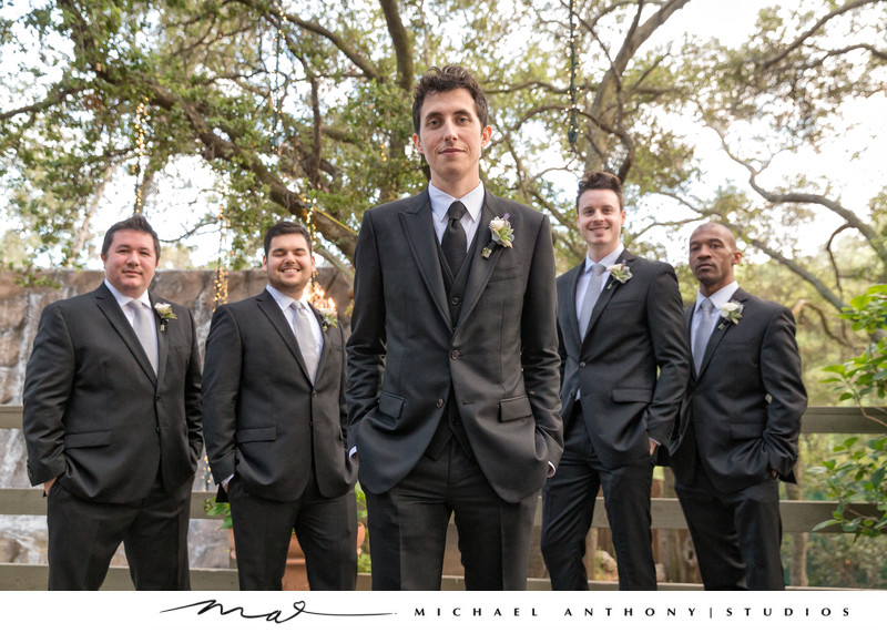 Groomsmen at Calamigos Ranch