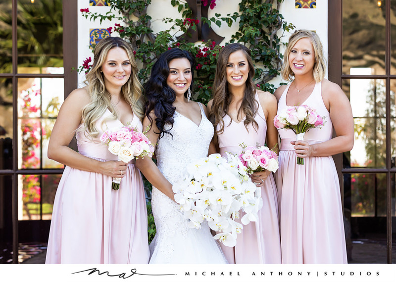 Hummingbird Nest Ranch Bridal Party Portraits