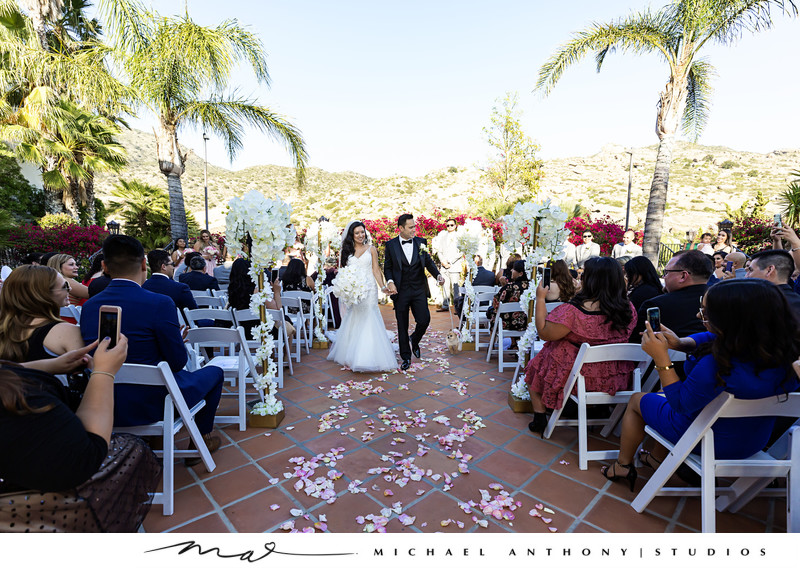 Hummingbird Nest Ranch Wedding Recessional