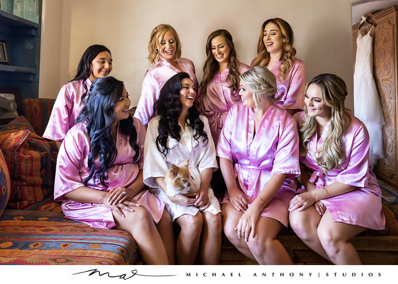 Hummingbird Nest Ranch Bridesmaids in Bridal Suite