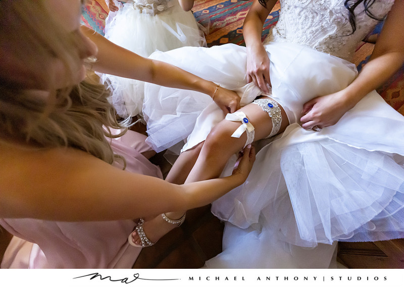 Hummingbird Nest Ranch Wedding Garter