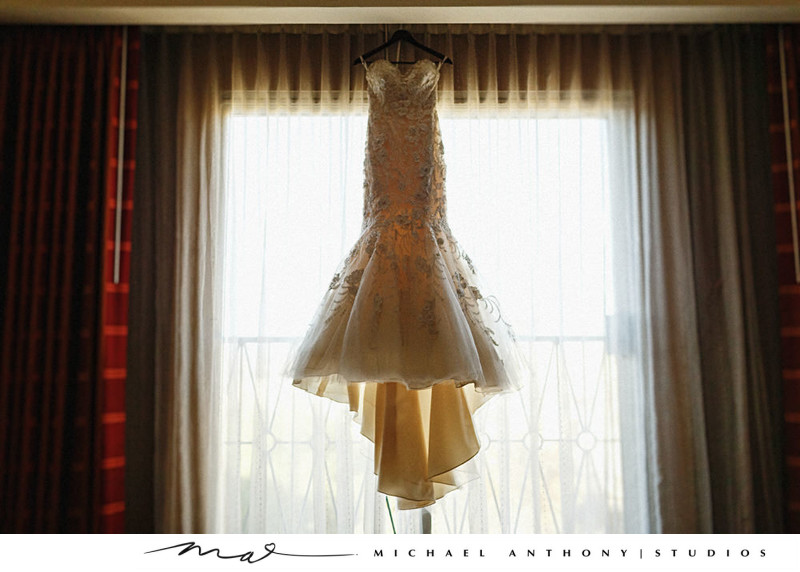 Hyatt Regency Valencia Wedding Gown