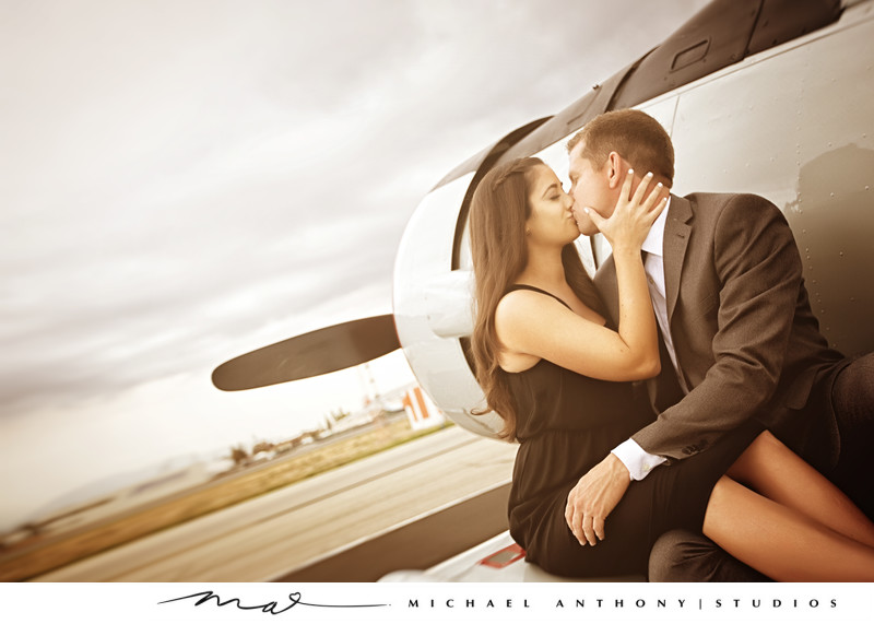 Airport Engagement Sessions Los Angeles