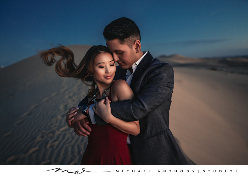 Glamis Sand Dunes Engagement Session Windy
