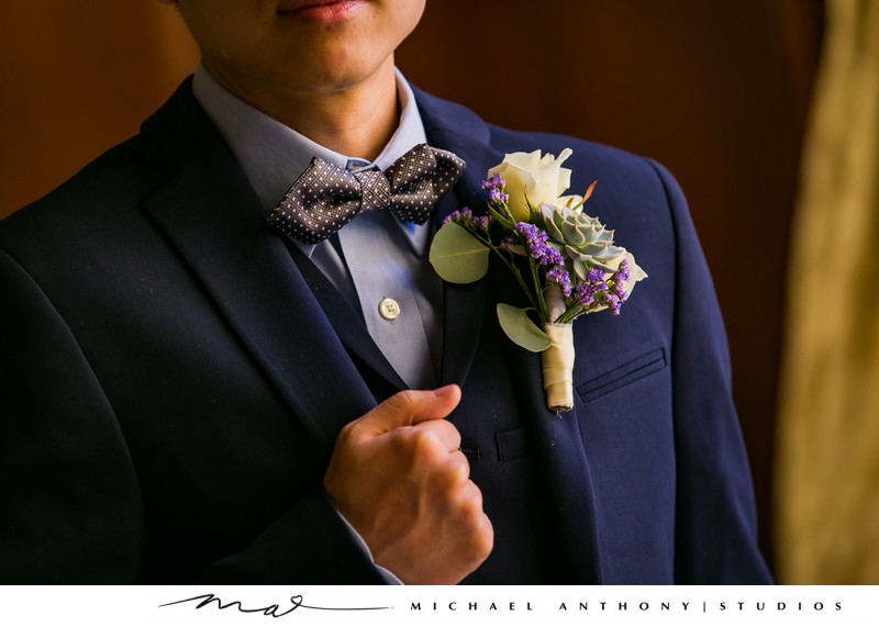 Photos of a groom at Majestic Downtown