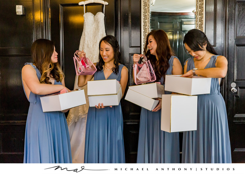 Majestic Downtown Wedding Bridesmaids Gifts