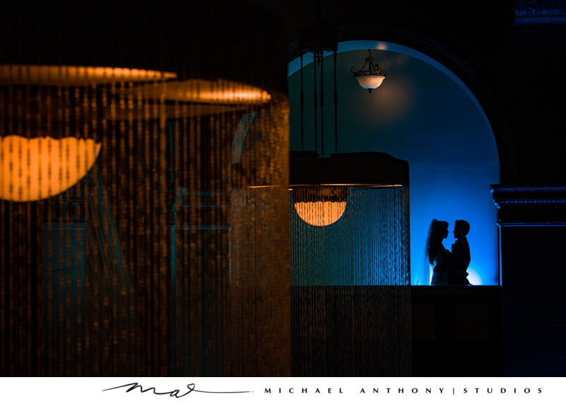 Night Portrait at Majestic Downtown Wedding