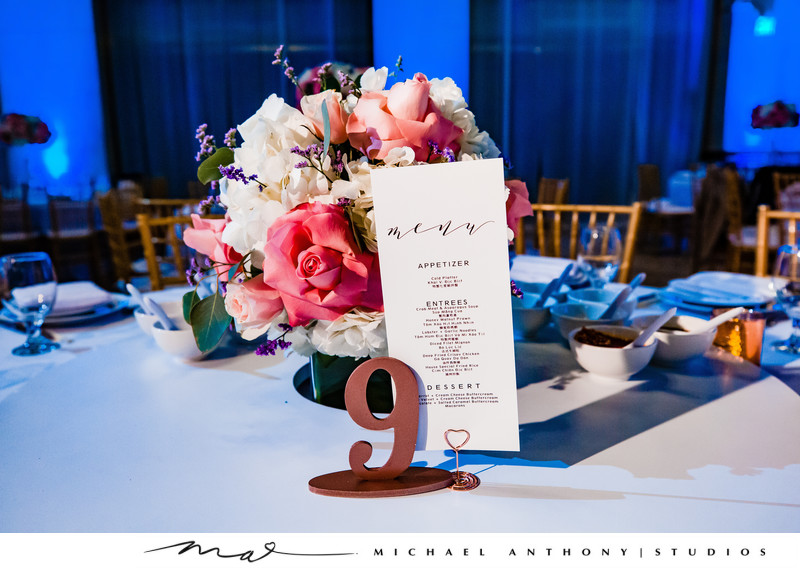Tablecards at Majestic Downtown Wedding