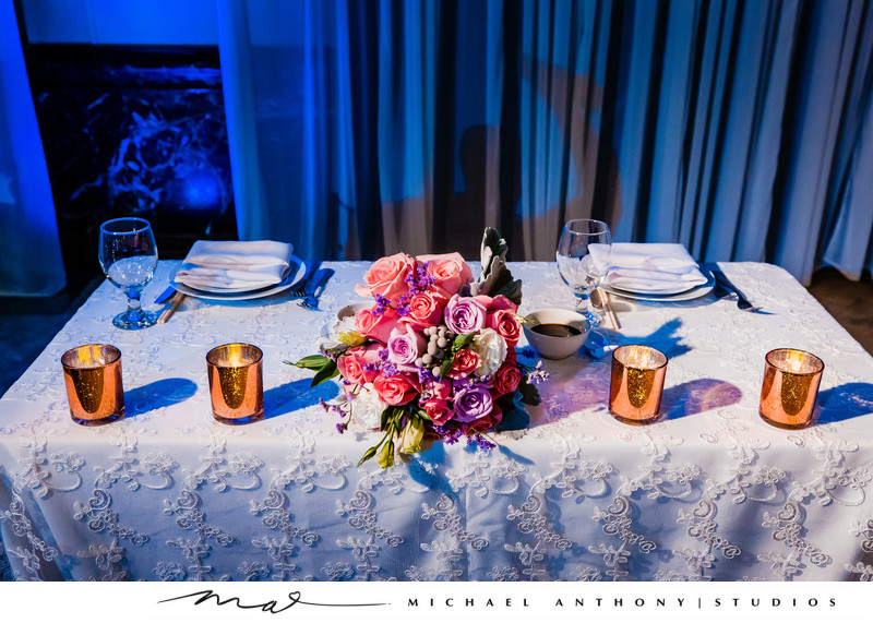 Sweetheart table at Majestic Downtown Wedding