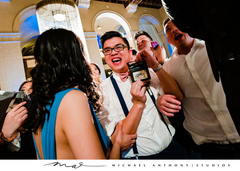 Photos of a dancing at a Majestic Downtown Wedding
