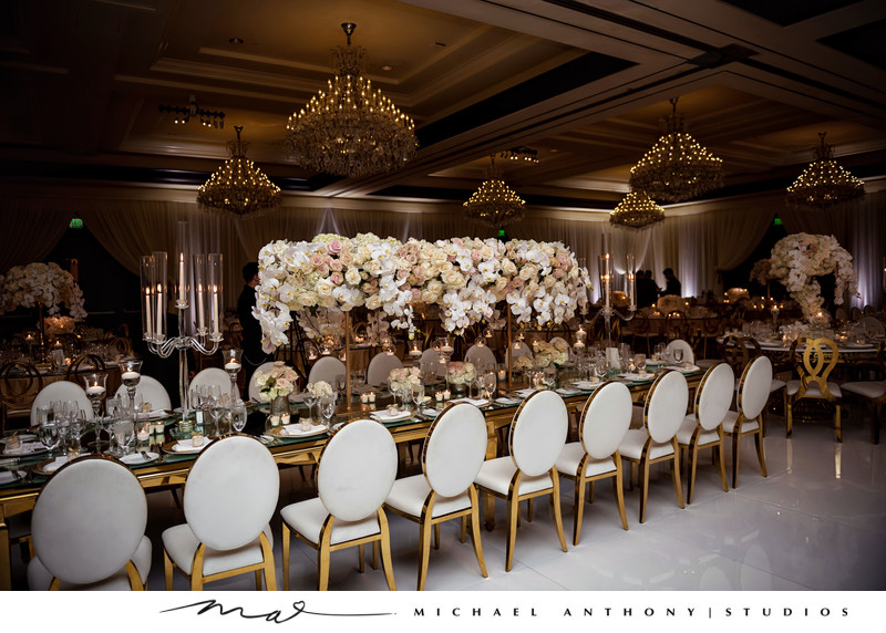 Wedding Reception Details at Four Seasons Westlake Village