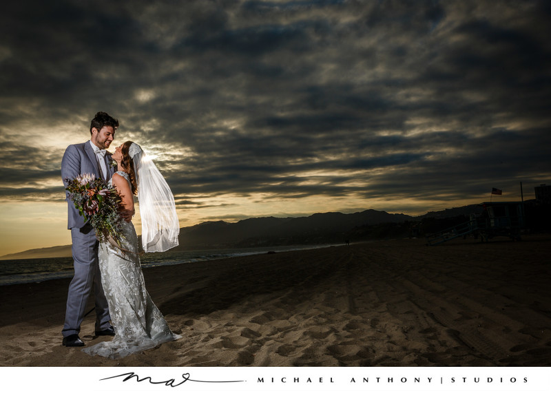 Beach Wedding Photos at fairmont miramar santa monica