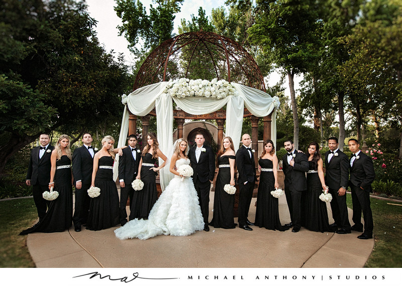 Fun Bridal Party Photos at Westlake Village Inn