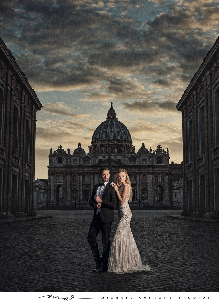 Rome Destination Wedding Photographers Vatican