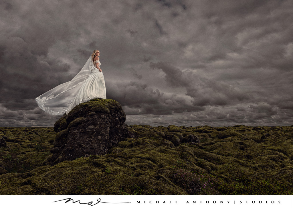 Iceland Lava Fields Wedding